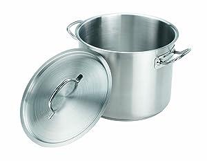 Crestware SSPOT20 20 Quart Stainless Steel Stock Pot, Silver
