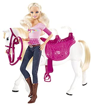 official images new lifestyle release date Barbie Mattel - V6984 - Poupées mannequins et Son Cheval Trotteur