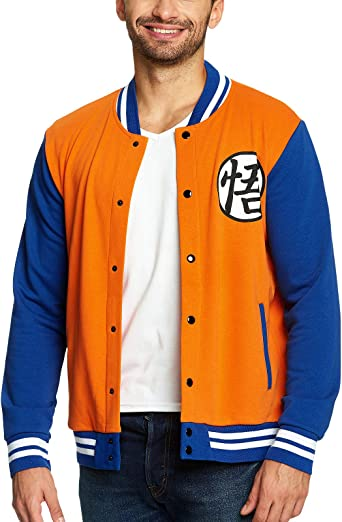 Dragon Ball Z College Jacke Goku Elbenwald orange blau