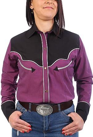 Last Rebels - Camisa Country Line Dance, para Mujer, Color Fucsia: Amazon.es: Ropa y accesorios