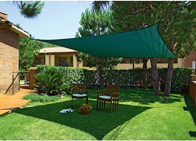 NORTENE Malla Sombreado Verde Cuadrada 3,6 x 3,6 m: Amazon.es: Hogar