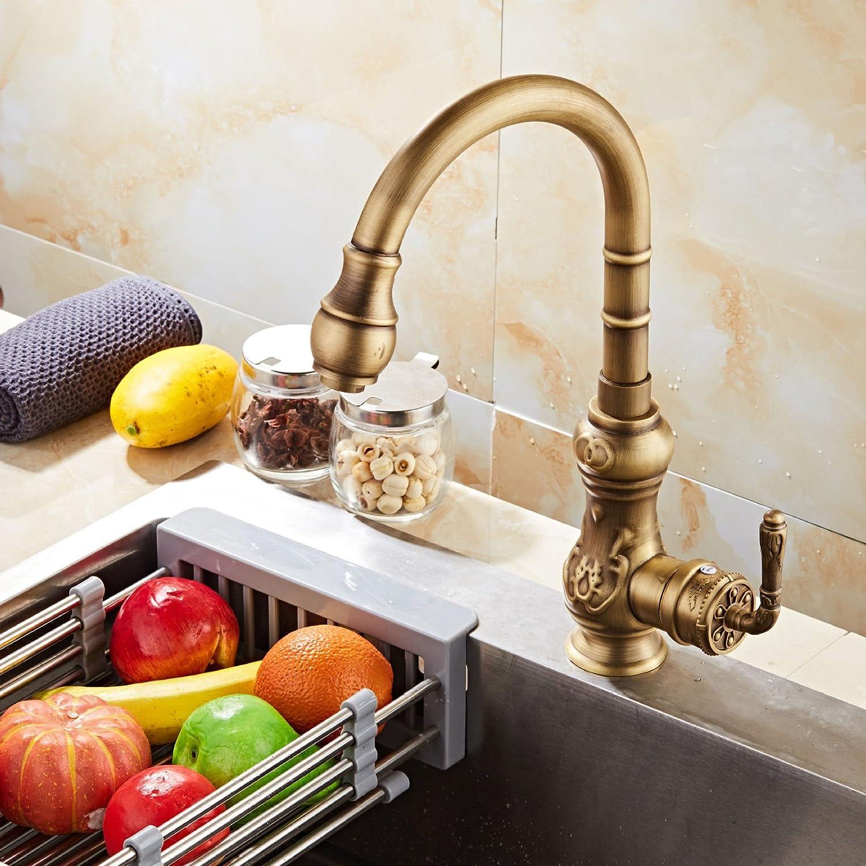 MEIBATH Küchenarmatur Spültischarmatur Wasserhahn Spültischbatterie Armatur Mischbatterie Moderne Messing kalt Heiß Wasserhahn