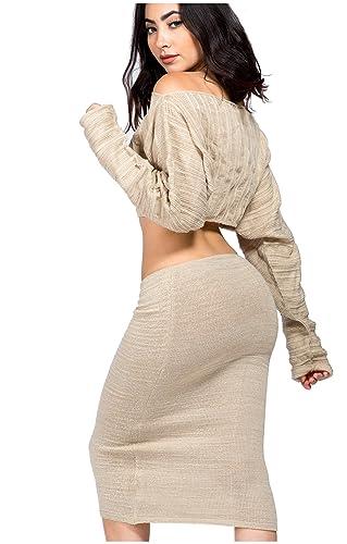 Midi Knee High Sweater Set Str...