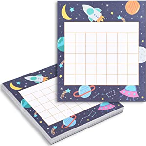 Space Theme Classroom Incentive Chart for Home or School (6 x 5.25 in, 60 Pk)