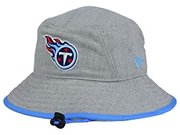 Tennessee Titans New Era NFL Heather Grey Bucket Boonie Hat (XX-Large) 53d5ccce240