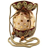 Cassidile™ Ethnic Silk Clutch Potli Batwa Pouch Bag with Embroidery Work Gift for Women