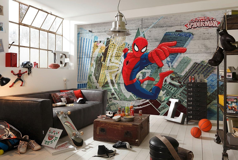 Komar Fototapete aus Papier Spider-Man Concrete, 368 x 254 cm, 8 Teile, Vinyl, Bunt, Wandbild, Wanddeko, Wandgestalltung B00DBWADDS Wandtattoos & Wandbilder