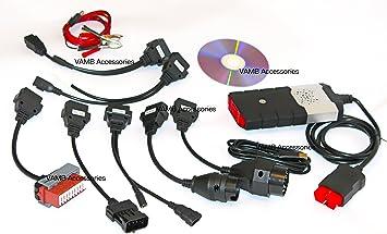 Coche camión Van Auto diagnóstico escáner ds-150e 2014 2.14.2 DS150E para Delphi y OBD2 8 cables de Adaptadores: Amazon.es: Coche y moto