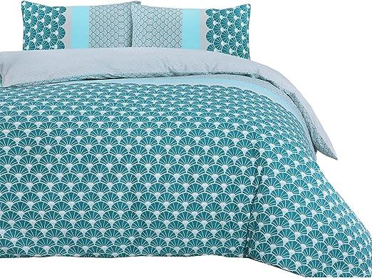 Nimsay Home - Juego de funda de edredón 100% algodón, color azul ...