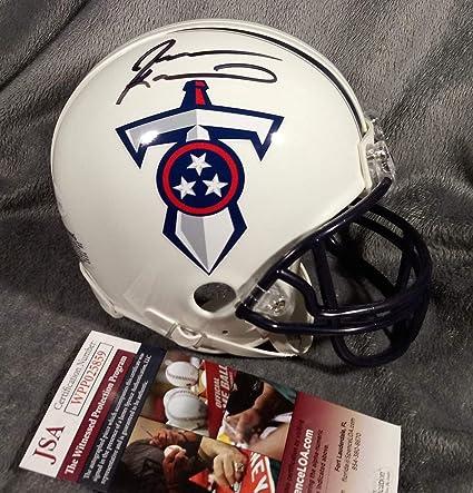 Jevon Kearse Autographed Signed Tennessee Titans Mini Helmet JSA Witness  COA Florida Gators ad2c98aae
