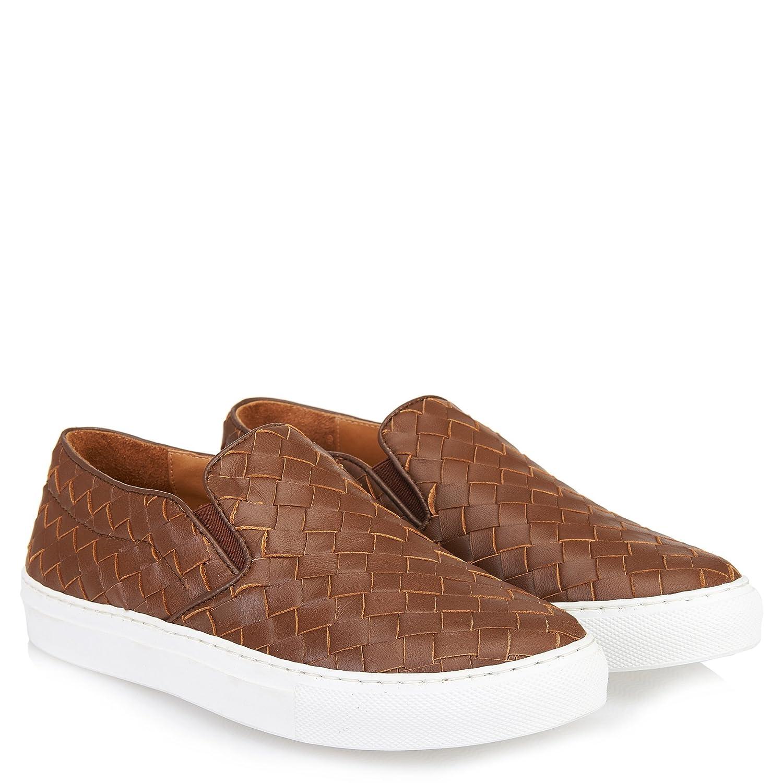 Abro Damen Geflochtene Geflochtene Damen Slip-on Sneaker Braun 5c41a2