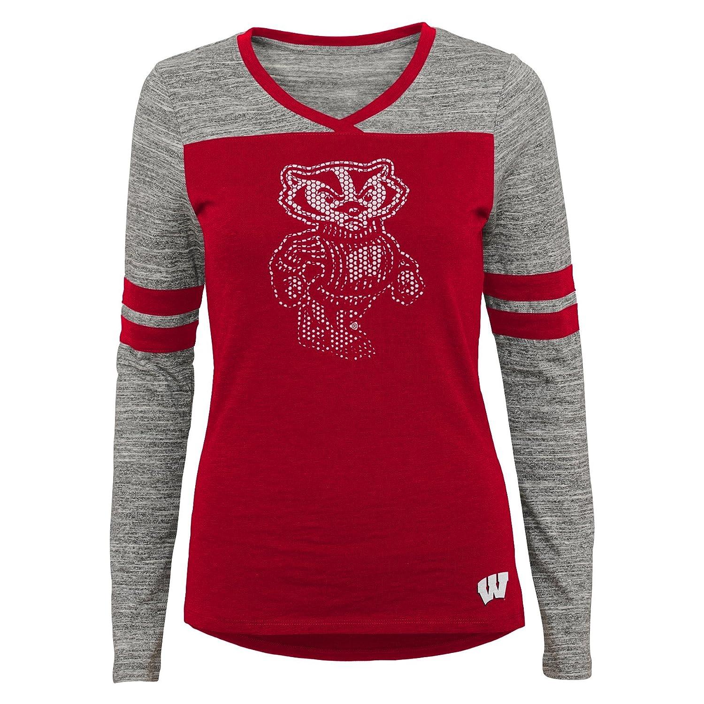3-5 NCAA Wisconsin Badgers Juniors Outerstuff Secret Fan Long Sleeve Football Tee Team Color Small
