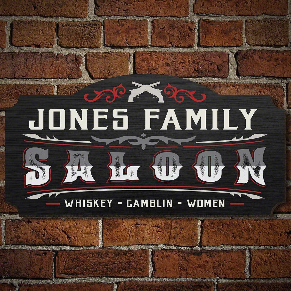 HomeWetBar Old Town Saloon Custom Saloon Sign