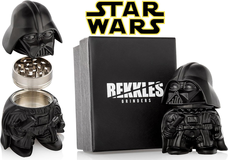 Molinillo de hierbas Star Wars, Darth Vader, tamaño perfecto, 3 piezas, con contenedor de almacenamiento para especias, caja de regalo
