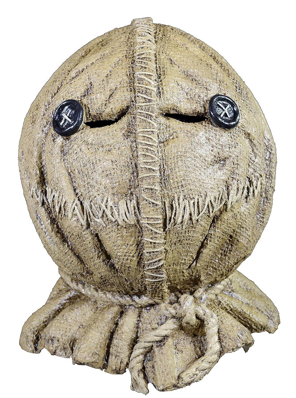 amazoncom trick or treat studios mens trick r treat sam burlap full head mask multi one size clothing - Trick R Treat Halloween Costume