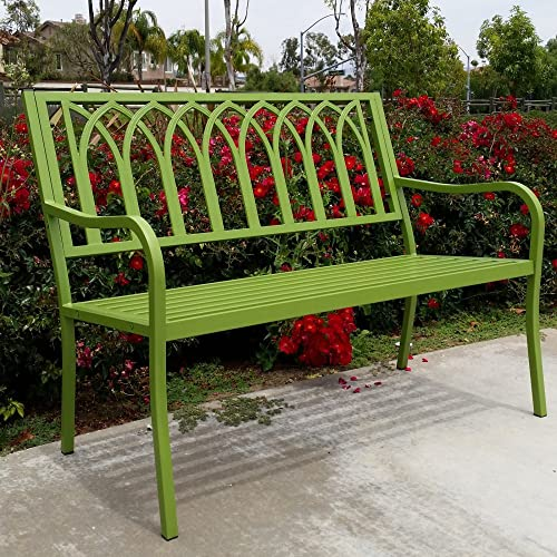 Innova Lakeside Urban Green Steel Bench