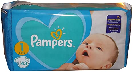 Cantidad 43 - 688 pieza PAMPERS Pañales New Baby Dry Talla 1. (Peso ...