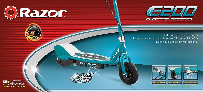 Amazon.com: Razor E200 - Patinete eléctrico (renovado), Azul ...
