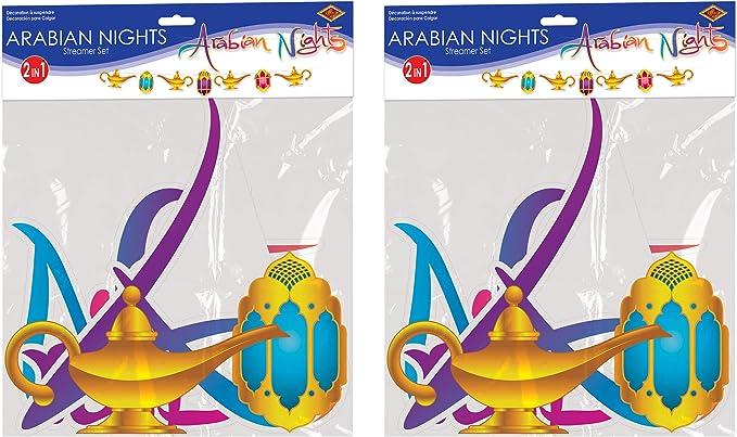 12.75 x 12 Multicolored Beistle 53582 Arabian Nights Streamer Set 2 Piece
