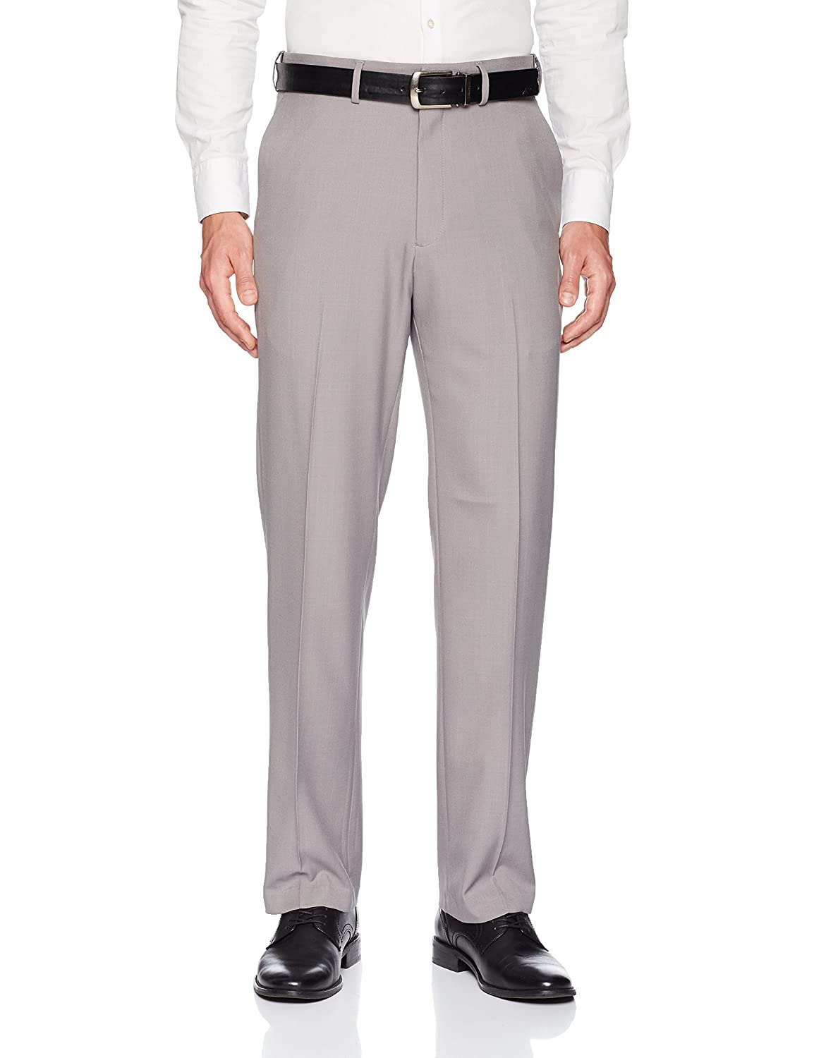 1920s Men's Pants, Trousers, Plus Fours, Knickers Haggar Mens Premium Comfort Classic Fit Flat Front Expandable Waist Pant $91.81 AT vintagedancer.com