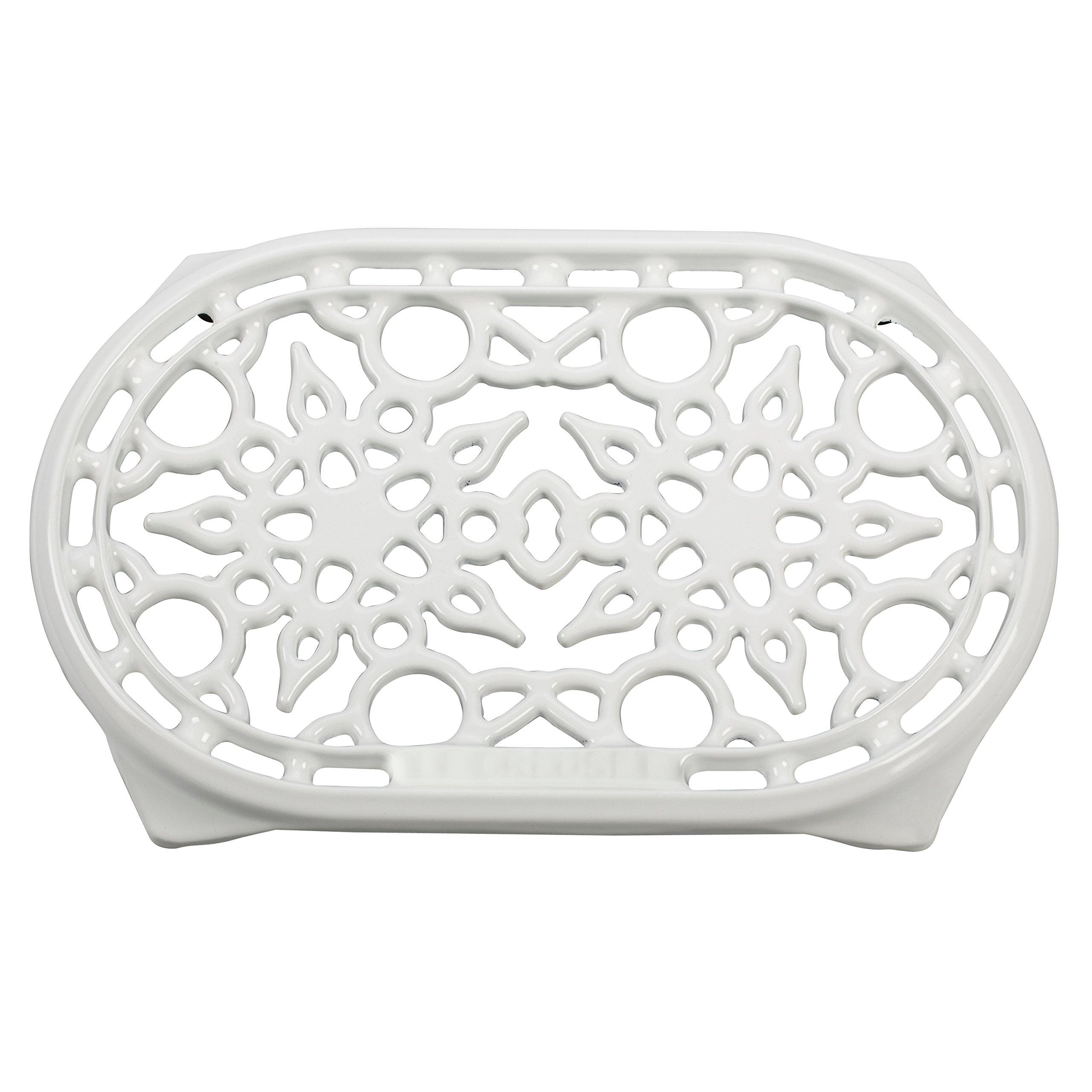 Le Creuset White Enameled Cast Iron 10.5 Inch Oval Trivet by Le Creuset (Image #1)