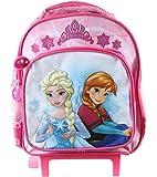 Reine des neiges - sac à dos trolley - rose - fille