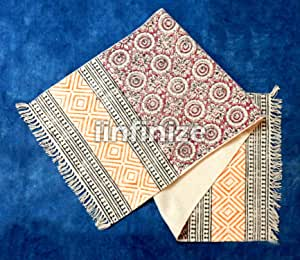 iinfinize - Alfombra de pasillo y pasillo, 100% algodón, para ...