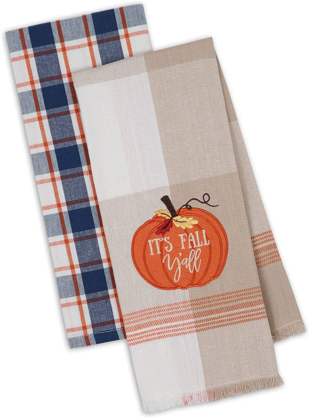 Design Imports DII Fall Farmhouse Kitchen Towels Set of 2, 18