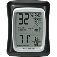 AcuRite Digital Indoor Thermometer & Hygrometer w/ Humidity Gauge (Black)