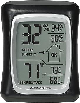 AcuRite 00325 Digital Indoor Thermometer & Hygrometer w/ Humidity Gauge