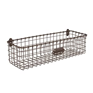 Spectrum Diversified Vintage Style, Bronze Wall Mount Basket, One