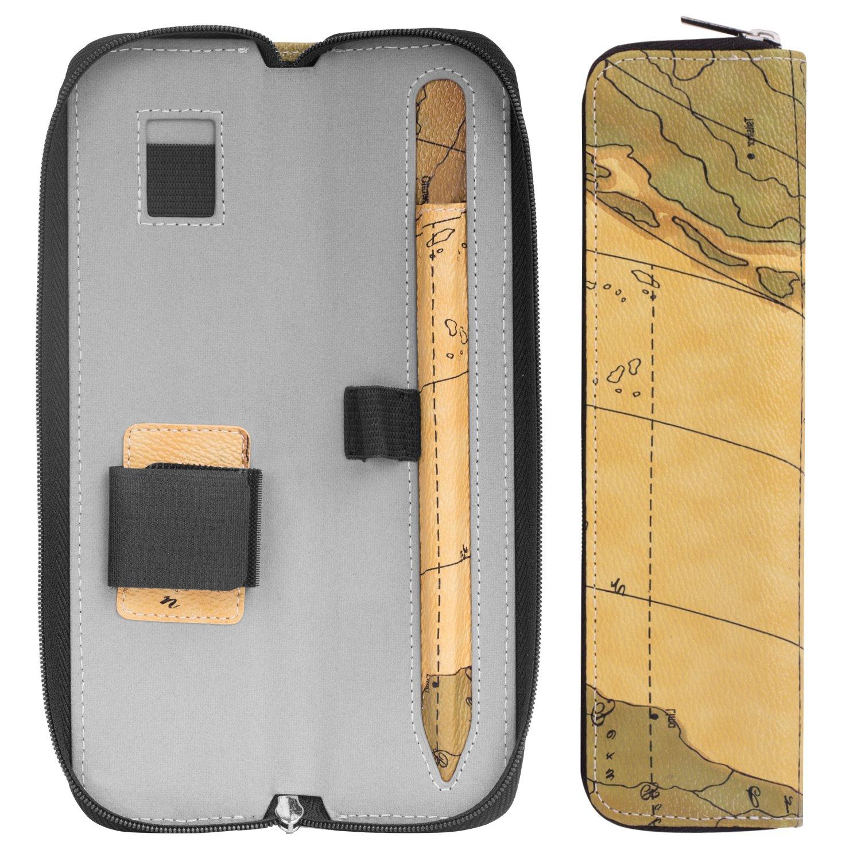 Rosa Dorada 3rd Generation 7.9 2019 Pencil 5th Generation Cubierta de Cuero PU Bolsa Protector con Bolso y Soporte para iPad Air MoKo Apple Pencil Holder Funda 10.5 2019//iPad Mini