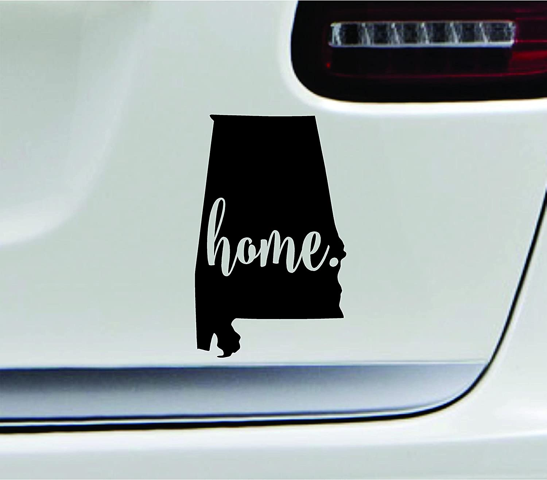 Amazon com 3 home alabama state montgomery silhouette symbol sticker decal car truck window computer laptop black automotive