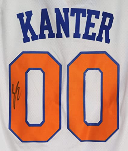 new concept 28a79 d87bd Enes Kanter New York Knicks Signed Autographed White #00 ...