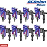 New Motorcraft Spark Plug SP515 (8) + (8) ACDelco BS-C1541 Ignition Coil