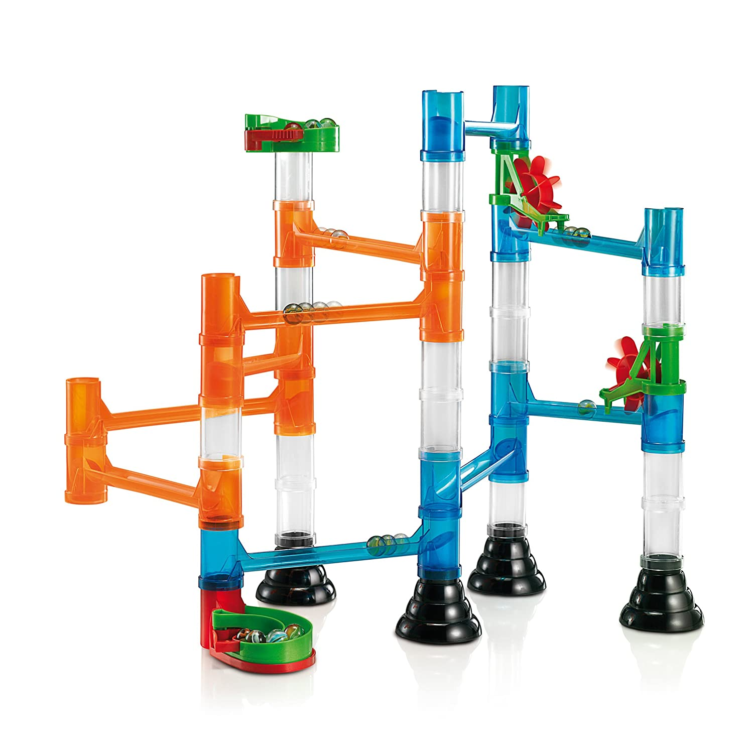 6546 Moving Visual Stimulation Made in Italy 45 Piece Basic Building Set Quercetti Transparent Marble Run Classic Construction Toy Perfect for Beginners Ages 4 and Up