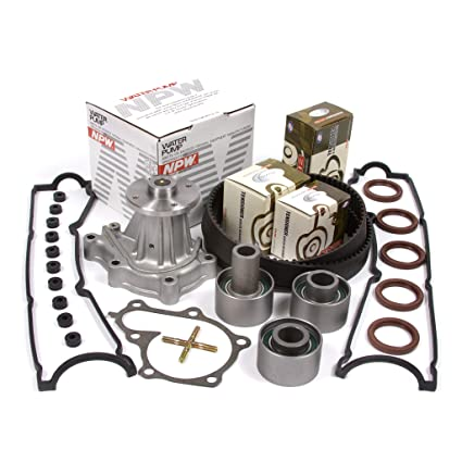 Amazon.com: 90-96 Nissan Turbo 3.0 DOHC 24V VG30DE VG30DETT Timing Belt Kit NPW Water Pump Valve Cover Gasket: Automotive