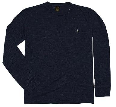 Polo Ralph Lauren Men's Long Sleeve Pony Logo T-Shirt - Small - Gentian Blue