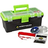 Wakeman Fishing Single Tray Tackle Box 55 Pc Tackle Kit