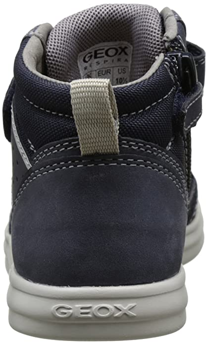 Geox Anthor I, Sneakers Hautes Garçon, Bleu (Navy/whitec4211), 37 EU