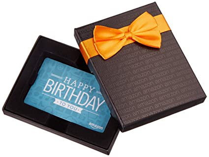 Amazon.com: Amazon.com Gift Card in a Black Gift Box (Birthday ...