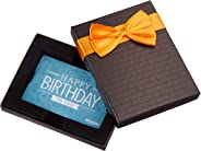 Amazon.com Gift Card in a Black Gift Box (Happy Birthday Icons Card Design)