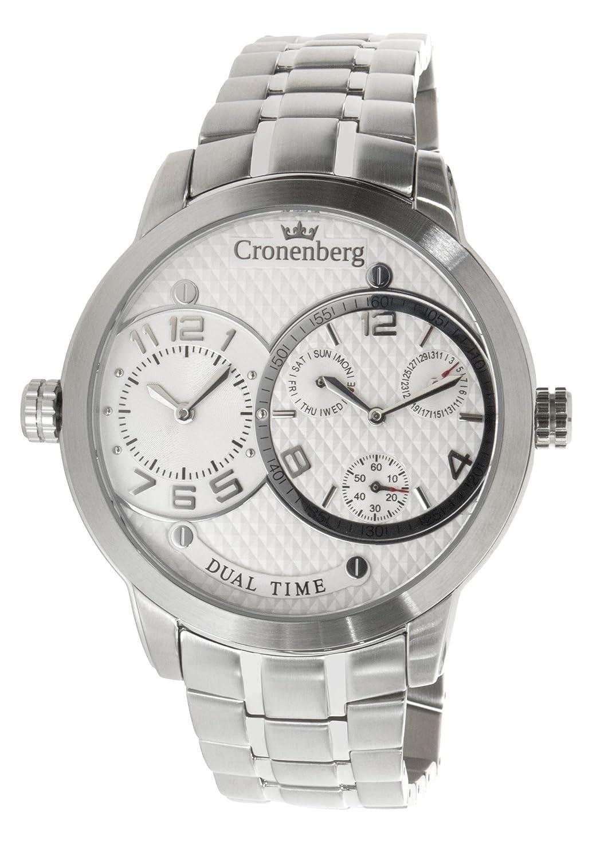 Cronenberg Herren-Armbanduhr XL Newton Analog Quarz Edelstahl 12079W1
