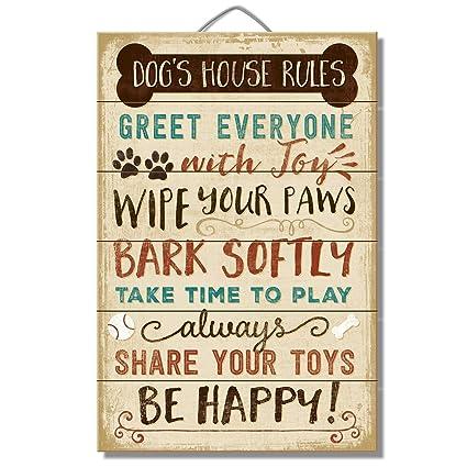 Las reglas de la casa del perro: A todos con alegría, Wipe your Paws