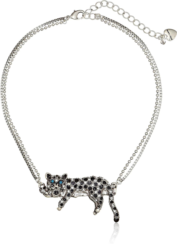 Betsey Johnson White Leopard Necklace
