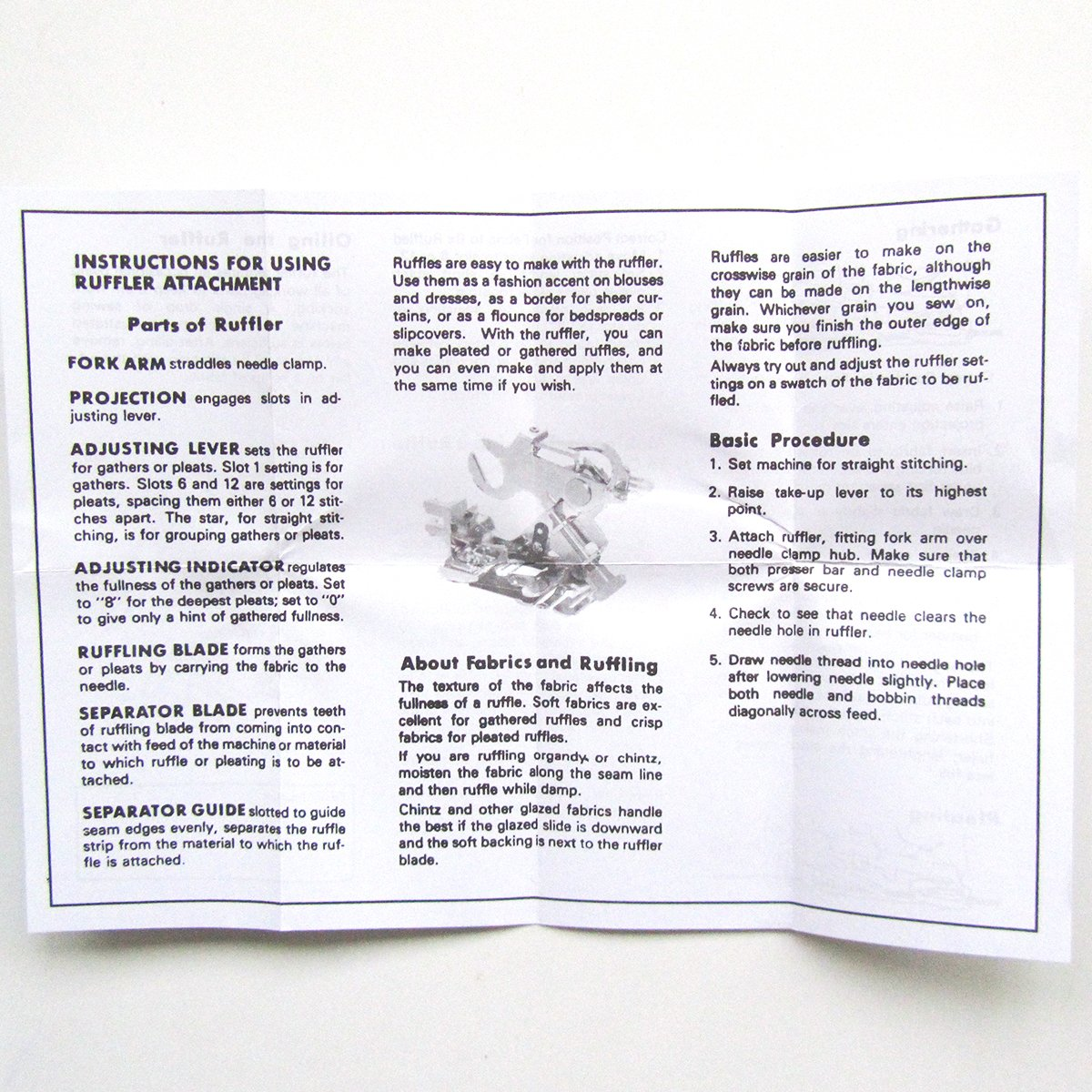 Kunpeng Ruffler Foot For All Old Style Bernina Sewing 830 Machine Threading Diagram Machines 153055705 0019477000 1pcs