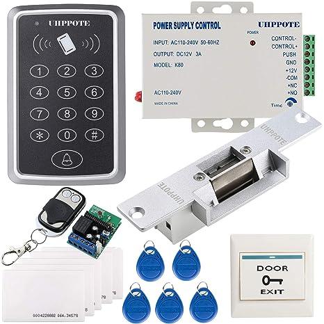 UHPPOTE 125KHz RFID EM ID Teclado De Una Sola Puerta Kit De Control Acceso Con Cerradura
