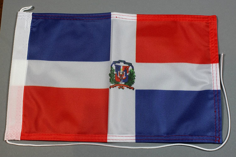 Buddel-Bini Bootsflagge Dominikanische Republik 20 x 30 cm in Profiqualit/ät Flagge Motorradflagge