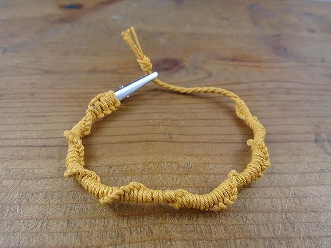 Amazon Com Gold Hemp Bracelet Anklet Spiral Knot 6 8 Inches