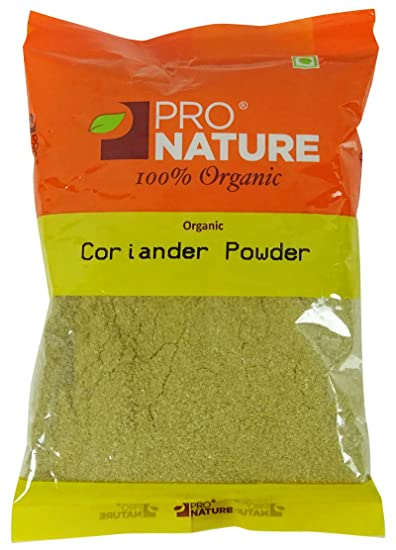 Pro Nature Organic Coriander Dhania Powder 3 5 Ounce Fssai